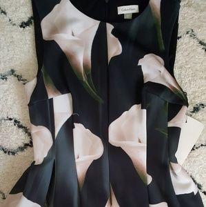 NWT Calvin Klein Calla Lily Scuba Dress - Size 8